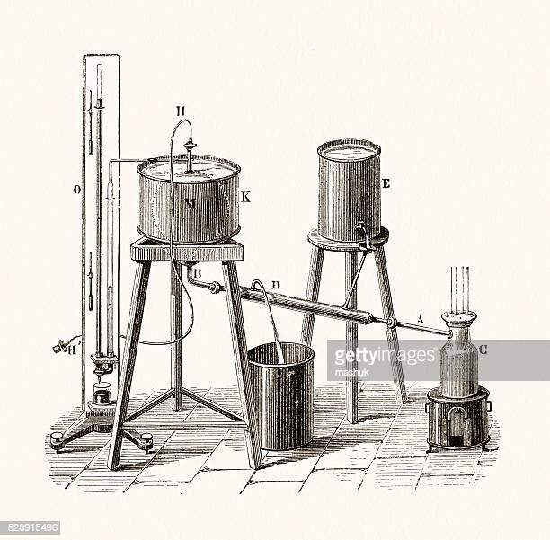 distillation apparatus scientific illustration - distillation stock illustrations, clip art, cartoons, & icons
