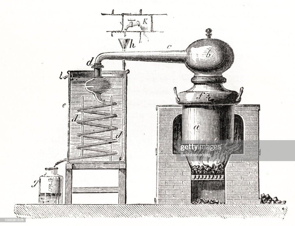 Distillery schematic : stock illustration