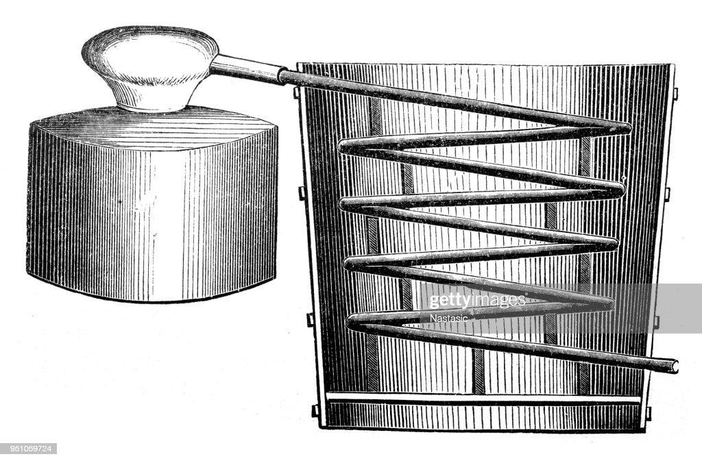 Distilling Apparatus : stock illustration