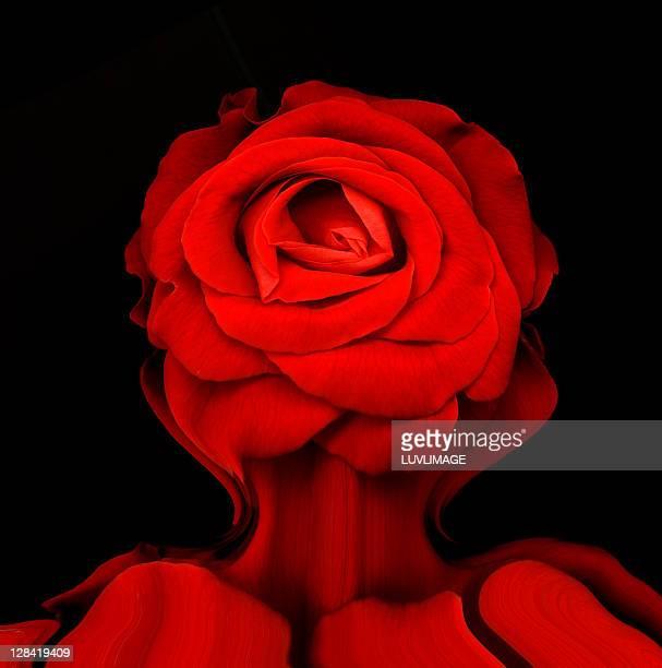 distorted rose - digital enhancement stock illustrations