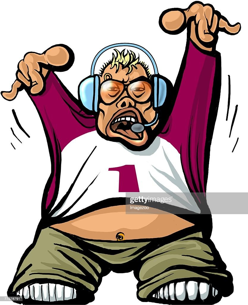 dj : stock illustration