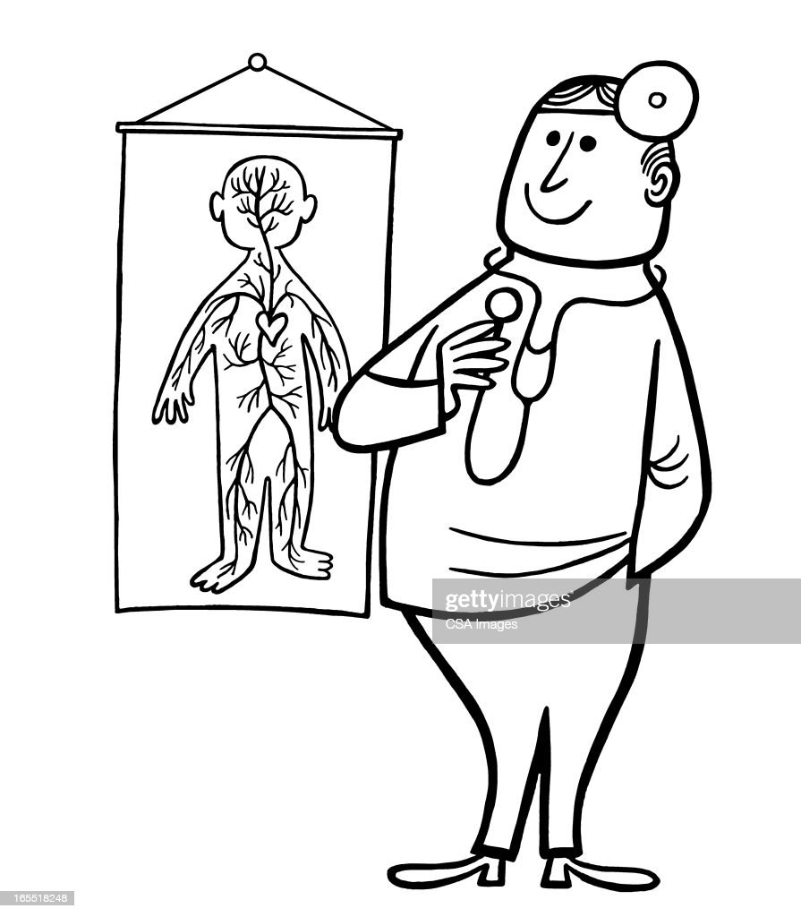 Doctor and a Chart : Stock Illustration