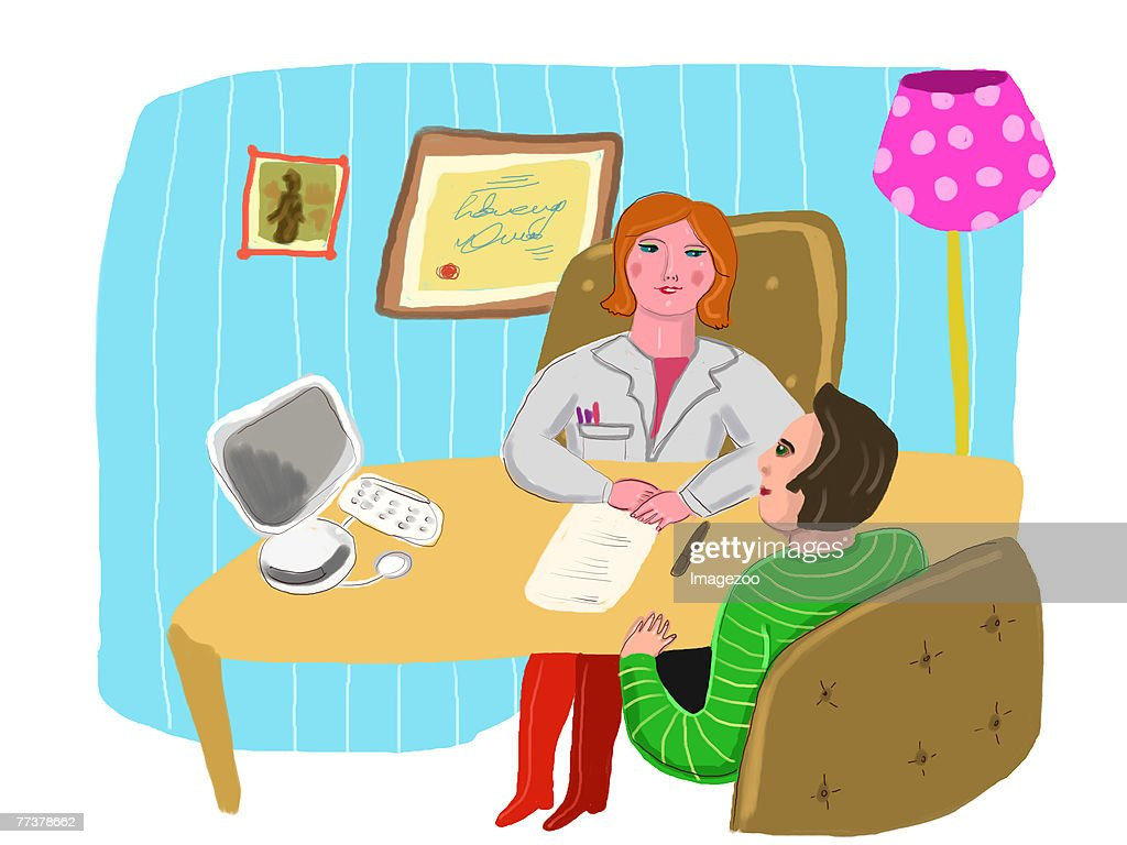 doctor and patient talking : Illustration