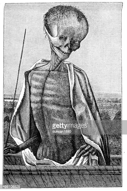 doctor death - bubonic plague stock illustrations