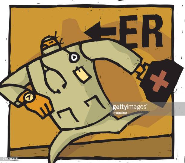 doctor running to the emergency room