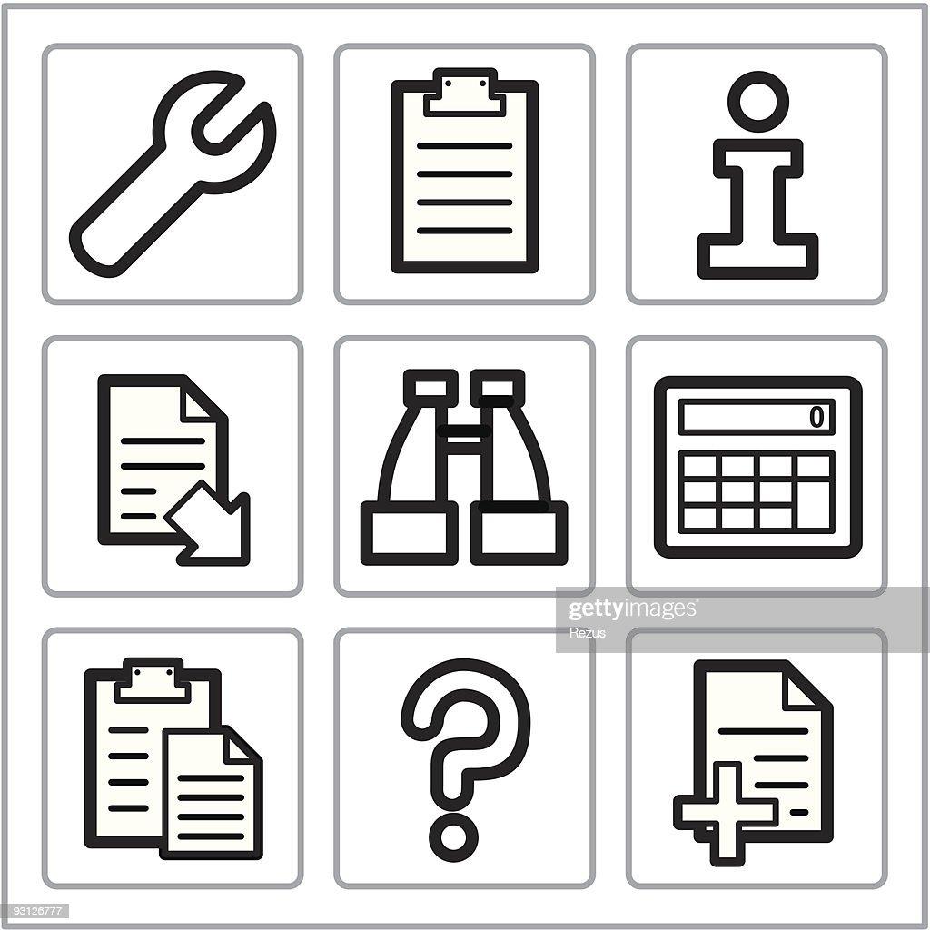Document icons set