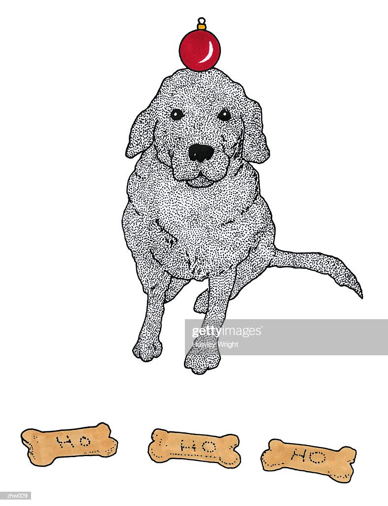 Dog Balancing Ornament : Ilustración de stock