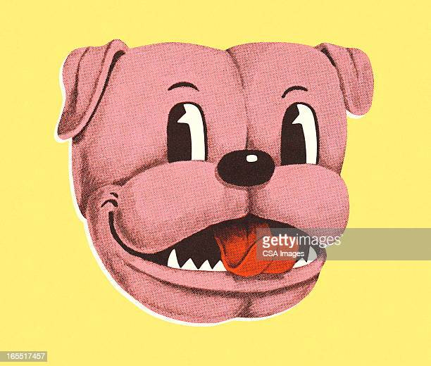 dog glancing sideways - tongue stock illustrations, clip art, cartoons, & icons