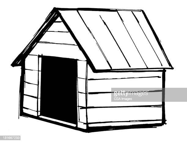 ilustraciones, imágenes clip art, dibujos animados e iconos de stock de dog house - caseta de perro