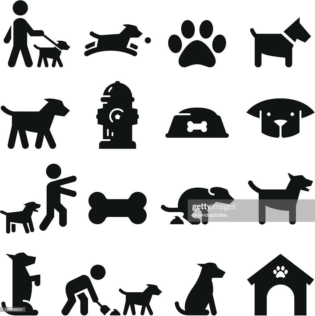 Dog Icons - Black Series