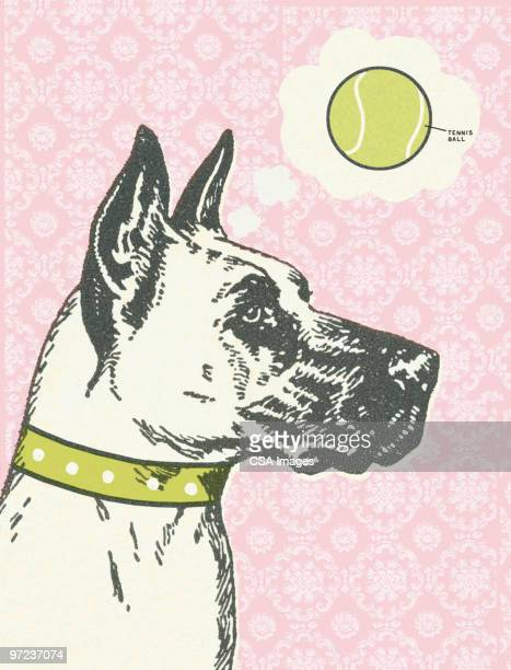 dog - thought bubble stock illustrations