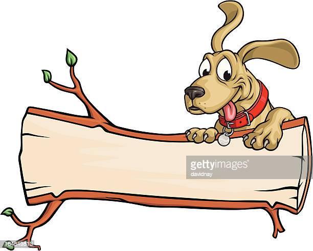 Dog Log Copy Space