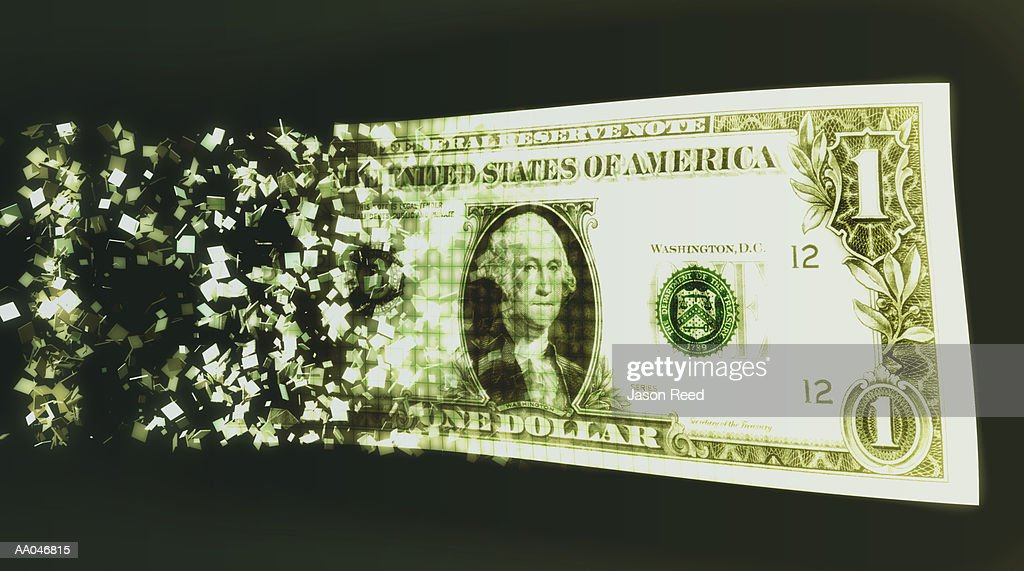 US dollar bill and binary code (Digital Composite) : stock illustration