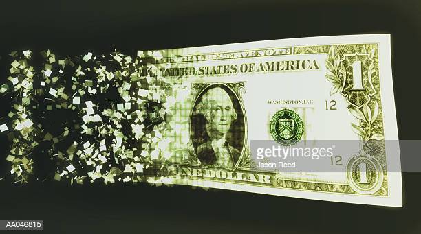 us dollar bill and binary code (digital composite) - american one dollar bill stock illustrations, clip art, cartoons, & icons