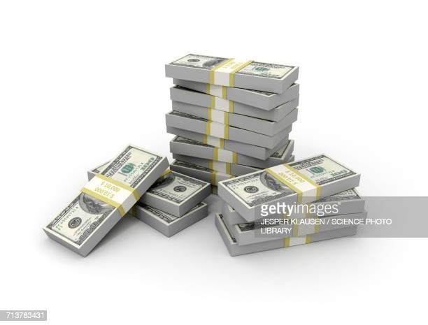us dollar bills - paper currency stock illustrations, clip art, cartoons, & icons