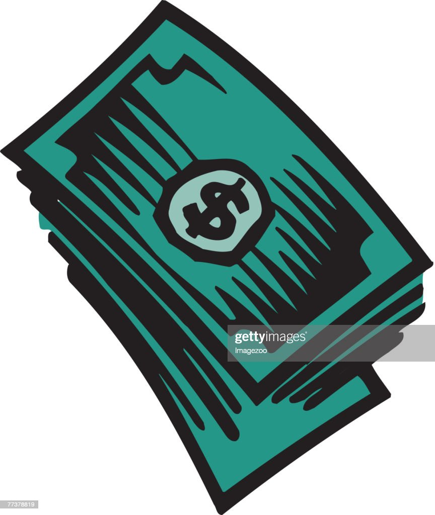Dollar bills : Illustration