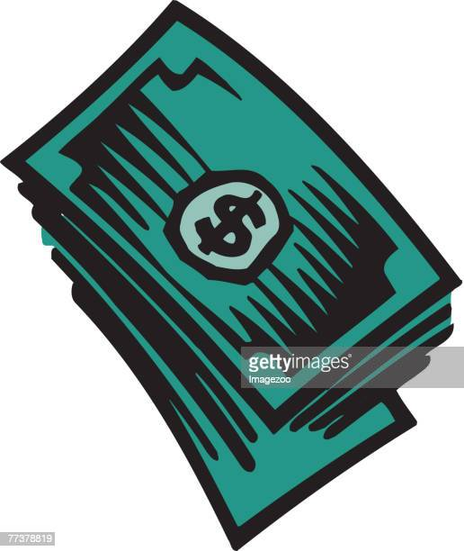 dollar bills - cash flow stock illustrations, clip art, cartoons, & icons