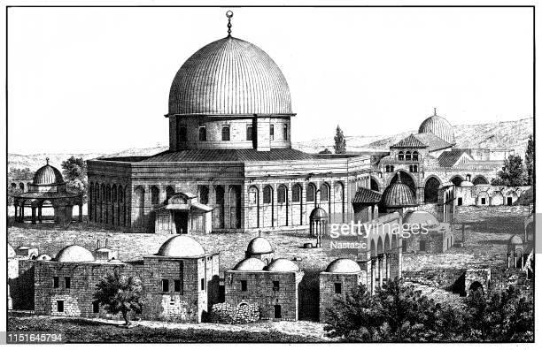 エルサレムの岩のドーム, イスラエル, オマールのモスク - パレスチナ自治区点のイラスト素材/クリップアート素材/マンガ素材/アイコン素材