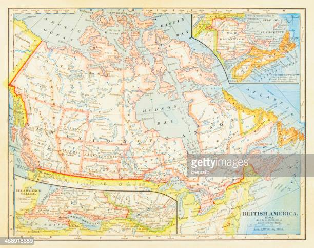 1883 dominion of canada map - lake erie stock illustrations, clip art, cartoons, & icons