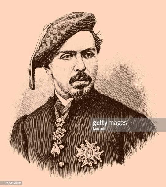 ilustraciones, imágenes clip art, dibujos animados e iconos de stock de don carlos, duque de madrid - 1874