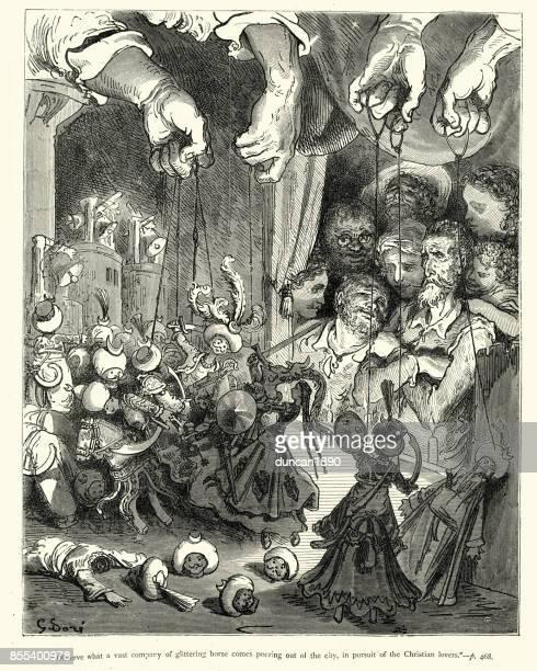 Don Quijote y el espectáculo de marionetas