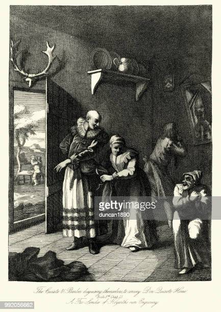 Don Quixote, Curate and barber disgusing themselves, William Hogarth