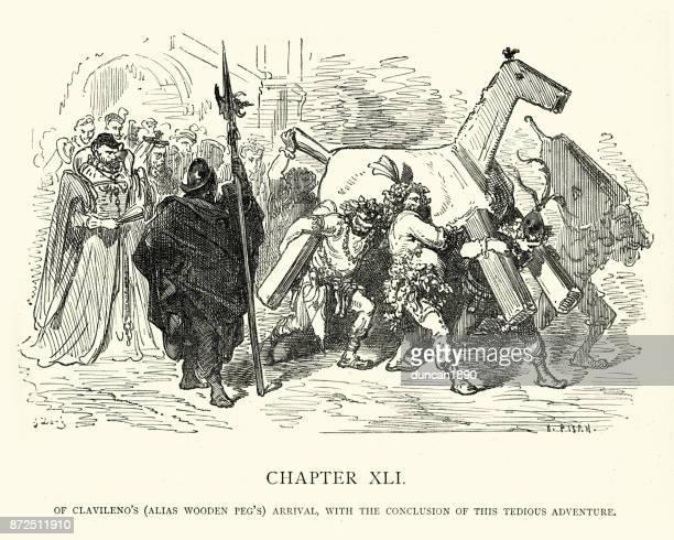 Don Quixote - Of Clavileno's (Alias wooden peg's) arrival