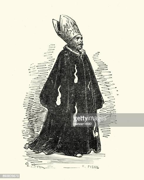 ilustrações, clipart, desenhos animados e ícones de don quixote, o bispo - bishop clergy