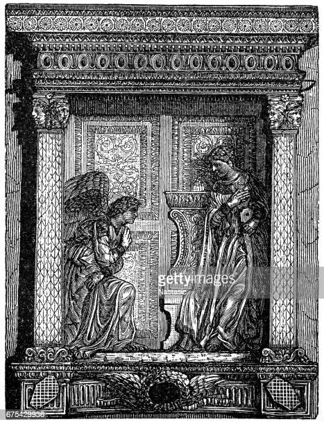 illustrations, cliparts, dessins animés et icônes de donatello's cavalcanti annunciation - lannonciation