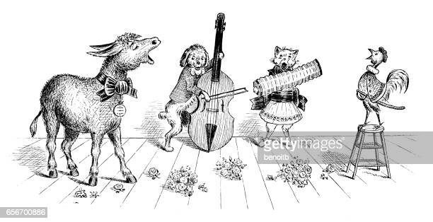 Donkey and friends band