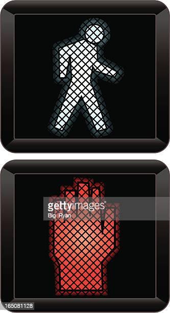 dont walk - walk don't walk signal stock illustrations