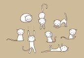 Doodle cat set