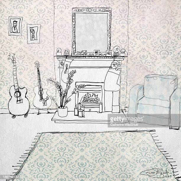 Doodle of interior room