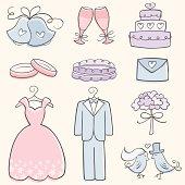 Doodle Wedding Elements