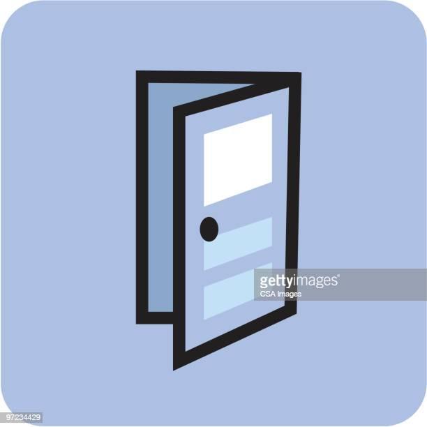 door - opportunity stock illustrations