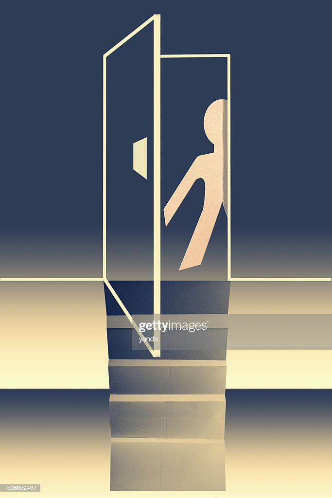 door of opportunity concept : Stock Illustration