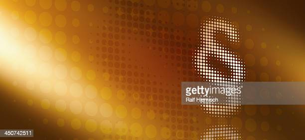 dot patterned section sign reflected against abstract surface - protection stock illustrations