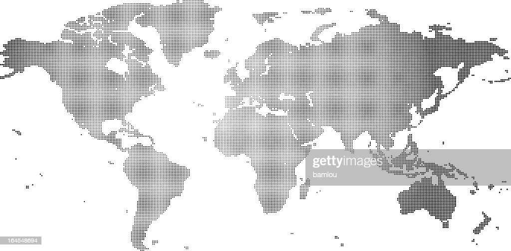 Dotted world map black and white vector art getty images dotted world map black and white vector art gumiabroncs Images