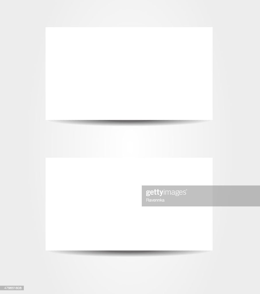 Double Sided Business Card Template Stock Illustration Getty Images