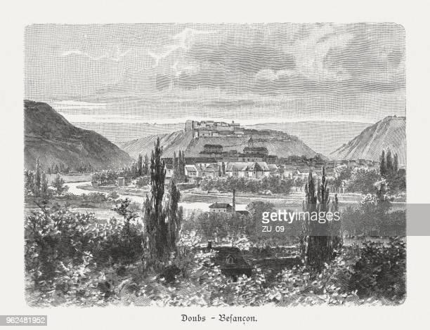 ドゥー県ブザンソン、フランス、木の彫刻の近く谷は 1897 年に公開 - ブザンソン点のイラスト素材/クリップアート素材/マンガ素材/アイコン素材