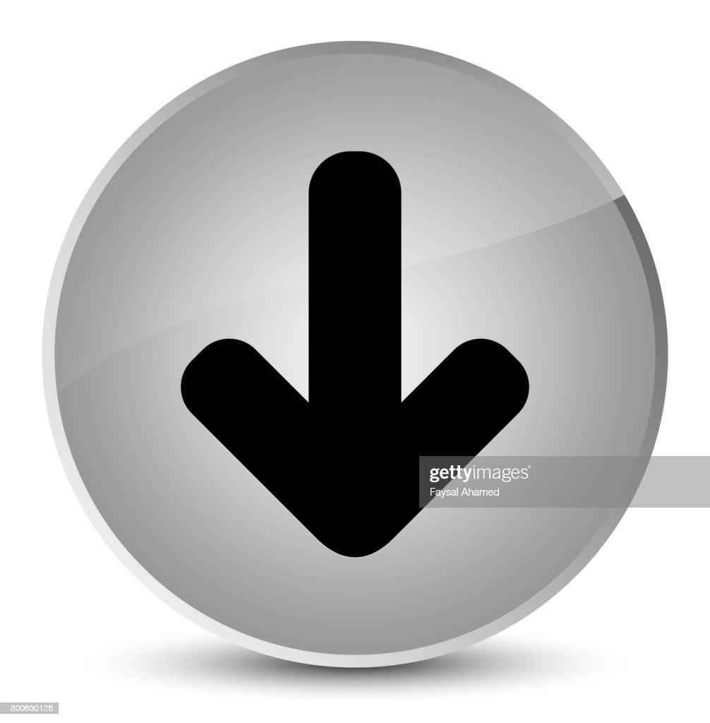 Download Arrow Icon Elegant White Round Button Stock