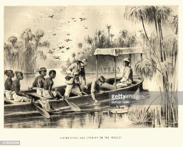 Dr Livingstone and Henry Stanley on the Rusizi
