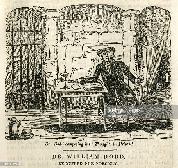 dr william dodd, executed for forgery - infamous stock illustrations, clip art, cartoons, & icons