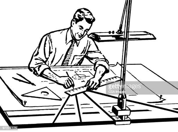 draftsman - instrument of measurement stock illustrations