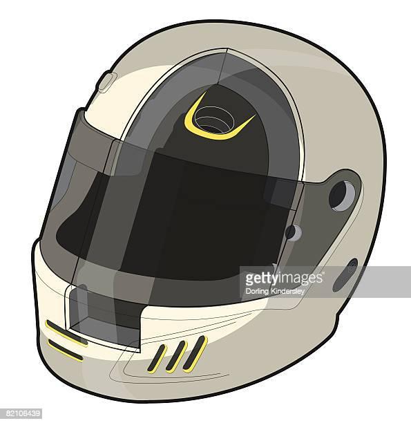 drag racing helmet - motorcycle helmet stock illustrations, clip art, cartoons, & icons