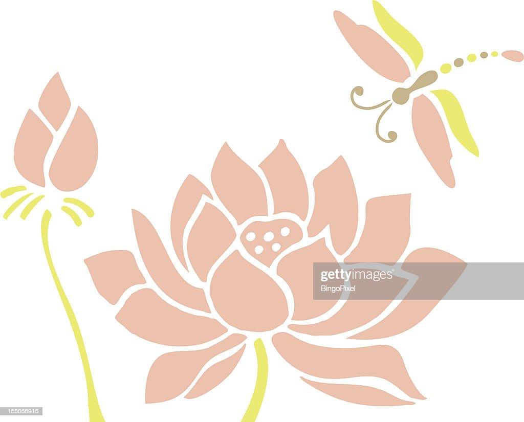 Dragon Fly & Lotus