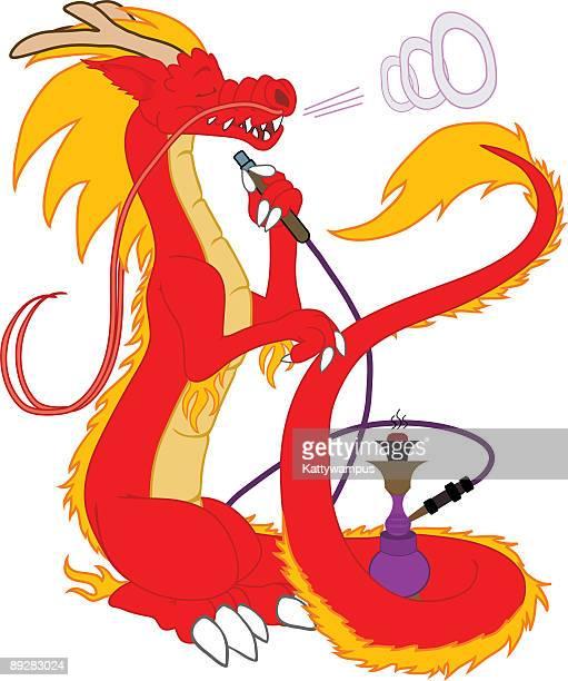 dragonsmoke - hookah stock illustrations, clip art, cartoons, & icons