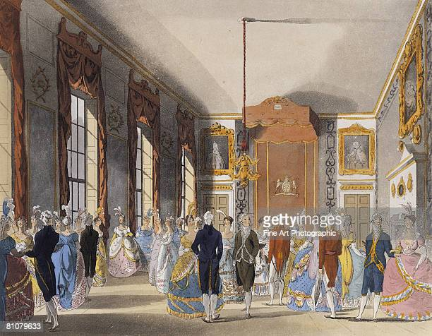 a drawing room, st james', london, england - large group of people stock illustrations