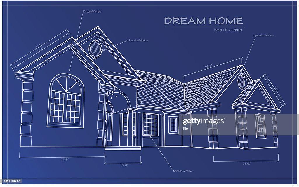 Dream home blueprint vector vector art getty images dream home blueprint vector vector art malvernweather Images