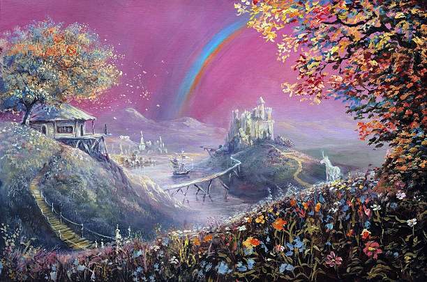 dreamland - unicorn stock illustrations